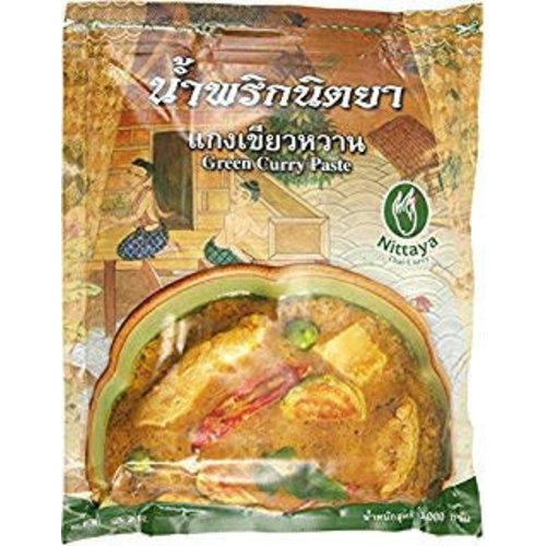 Nittaya Best before Date 08/18 Green Curry Paste 1K