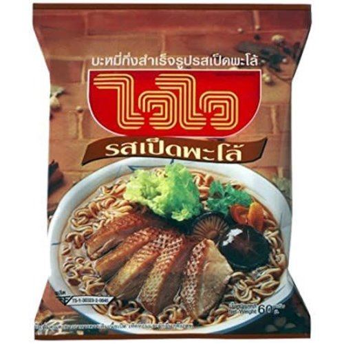 Wai Wai Best Before 01/19 Box of 30 Instant Noodles - Palo Duck  60g
