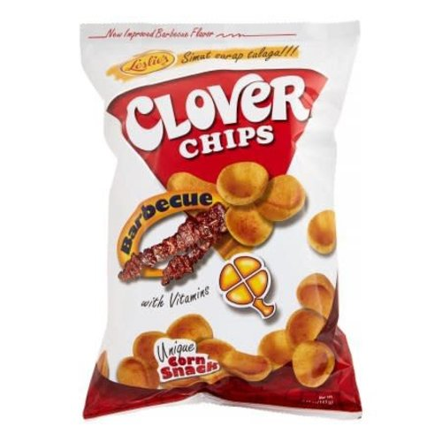 Leslie's Clover Chips - Barbecue 85g Best Before 09/18