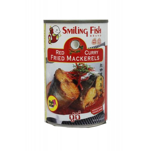 Smiling Fish Red Curry Fried Mackerel 155g