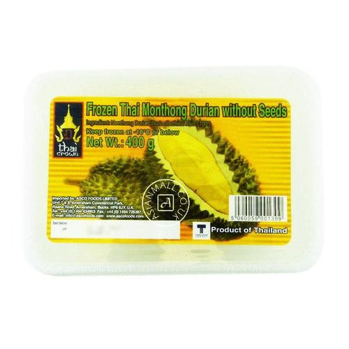 Thai Crown Frozen Thai Monthong Durian without Seeds 400g