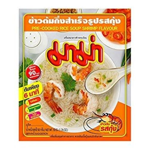 Mama Pre-Cooked Rice Soup Shrimp Flavour 50g Best before 09/18