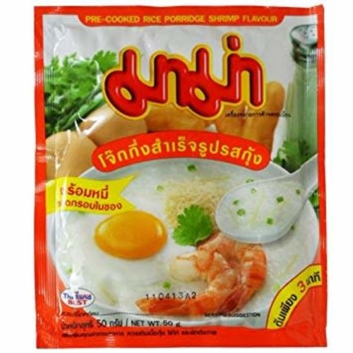 Mama Pre- Cooked Rice Porridge Shrimp Flavour 50g (Best Before Date 06/18)