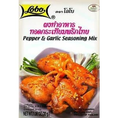 Lobo Pepper & Garlic Seasoning Mix 30g Best Before 02/19