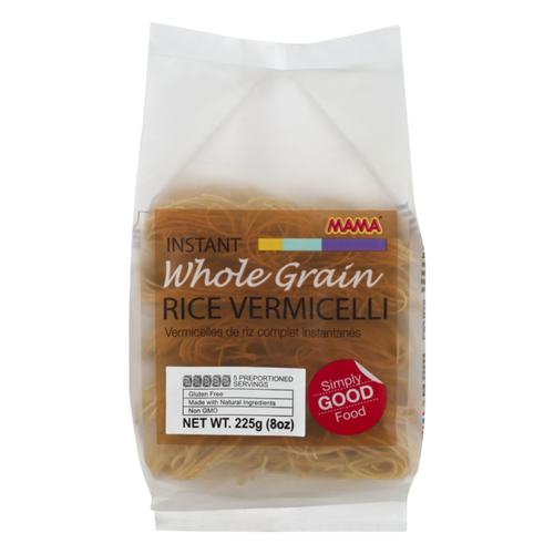 Mama Whole Grain Rice Vermicelli 225g Best Before 03/19