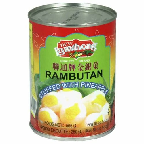Lamthong Rambutan Stuffed with Pineapple 565g Best Before 04/18