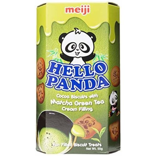 Meiji Hello Panda- Matcha Green Tea 50g (Best Before 12/18)