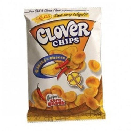 Leslie's Clover Chips Chilli & Cheese 85g Best Before  09/2018