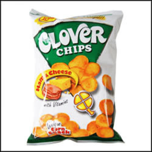 Leslie's Clover Chips - Ham & Cheese 85g Best before 09/18