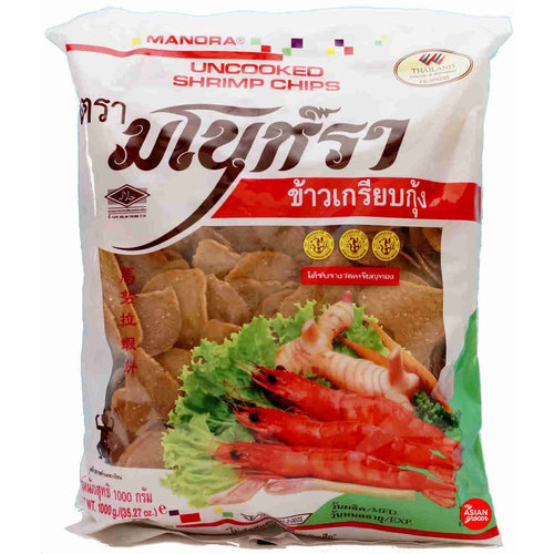 Manora Uncooked Shrimp Chips (Prawn Crackers) 500g