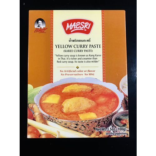 Maesri Yellow Curry Paste 100g Best Before 04/19