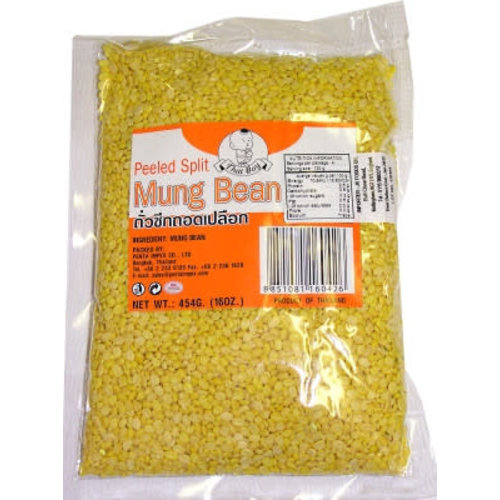 Thai Boy Peeled Split Mung Bean 454g