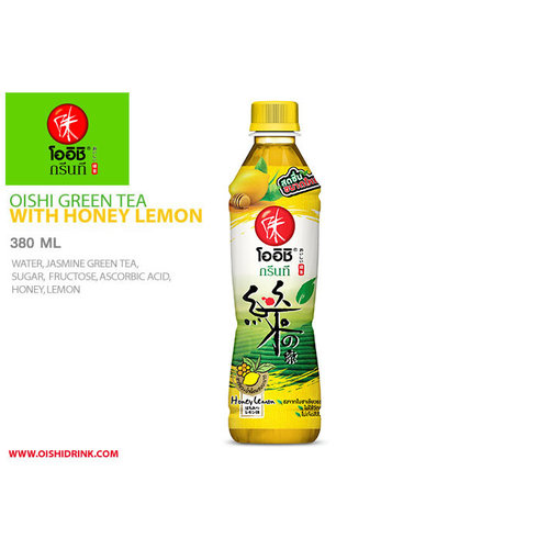 Oishi Green Tea - Honey & Lemon 380ml