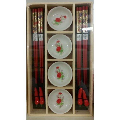 Red Chopsticks Set