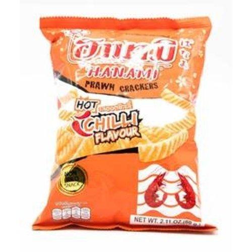 Hanami Prawn Crackers - Hot Chilli  60g