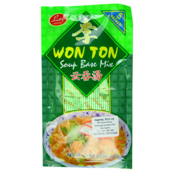 Lee Wonton Soup Base Mix 45g (5packs) Best Before 06/19
