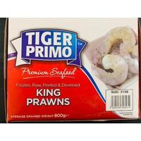 Tiger Primo Frozen Raw Peeled & Deveined King Prawns 800g