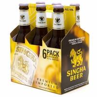 Singha Thai Singha Beer Bottle 330ml x 6 Pack