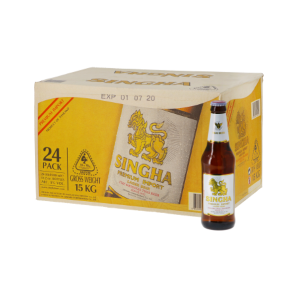 Singha Thai Singha Beer Bottle 330ml x 24 Box