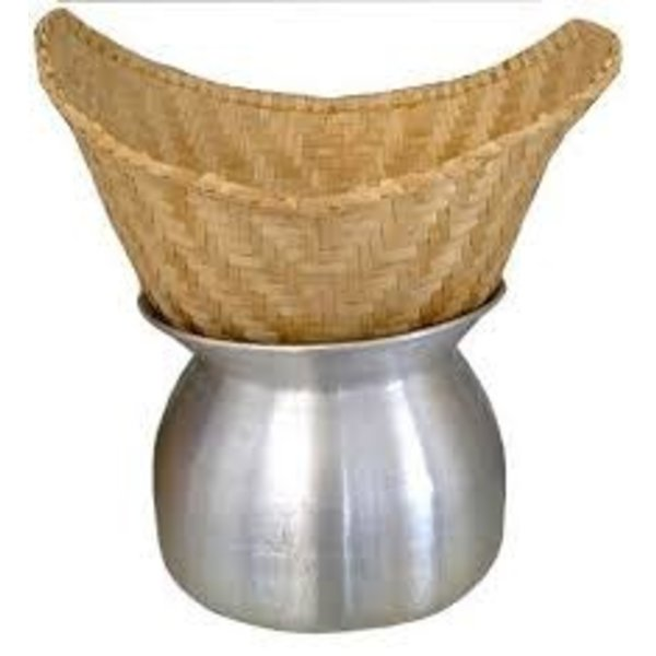 GLF Bamboo Sticky Rice Steamer Basket M 24cm (Pot not included)