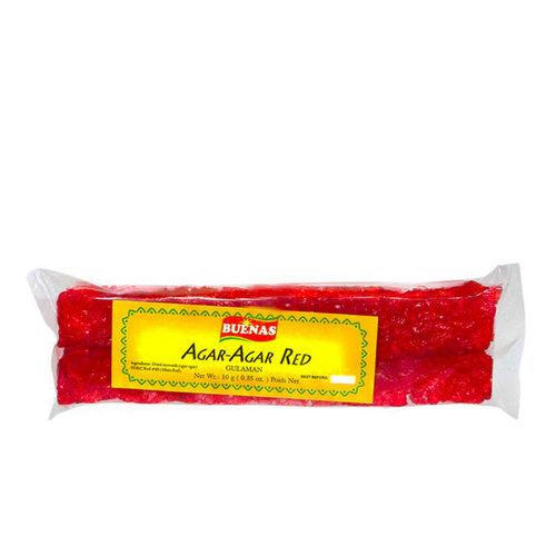 Buenas Agar Agar Strips- Red 20g Best Before 10/19