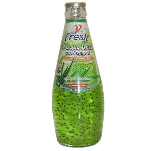 V Fresh Pandan Drink with Basil Seed 290ml