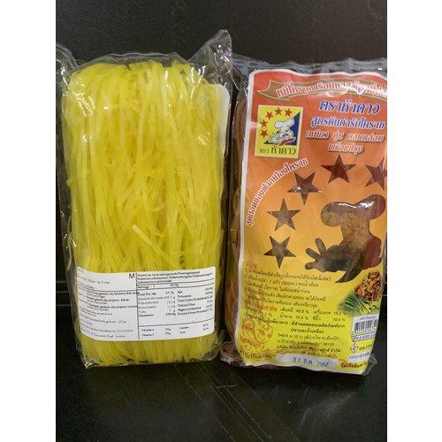 5 Stars Korat yellow Noodle  230g