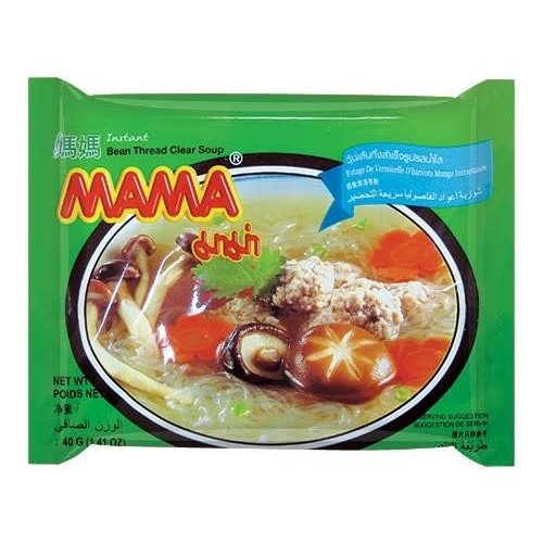 Mama Mung Bean Vermicelli - Clear Soup  40g Best Before 27/10/21