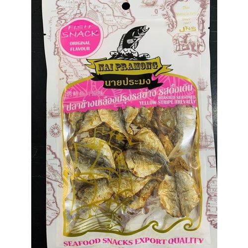 Nai Pramong Roasted Seasoned Yellow Stripe Trevally-Original Flavour40g