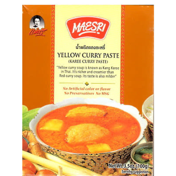 Maesri Yellow Curry Paste 100g