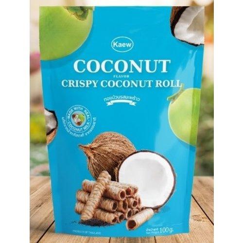 Kaew Crispy Coconut Roll 100g