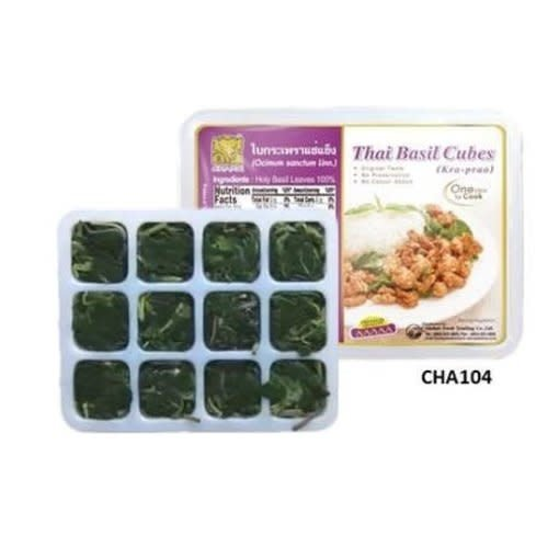 Chang Thai Holy Basil Cubes/ Kra Prao 120g  (FRozen)  PLEASE CHOOSE A.M. DELIVERY ONLY