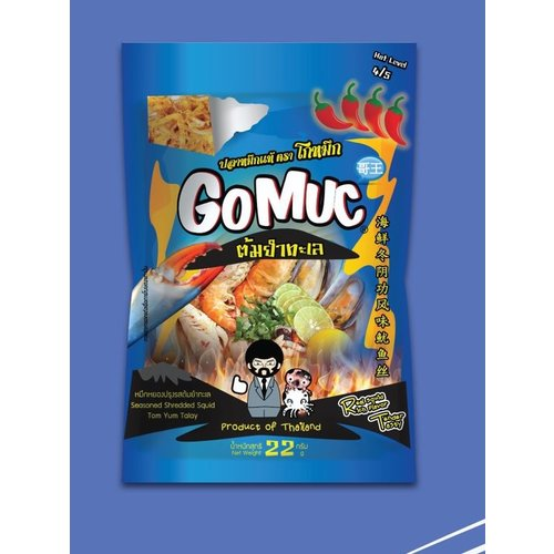 GoMuc Seasoned Shredded Squid Tom Yum Talay 22g