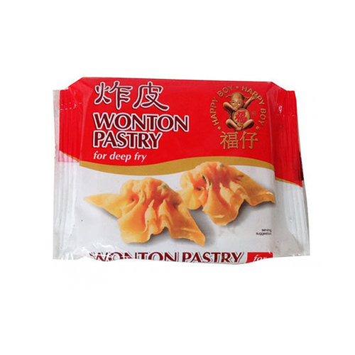 Happy Boy Wonton Pastry - Frozen  (Deep Fry) 250g   PLEASE CHOOSE A.M. DELIVERY ONLY