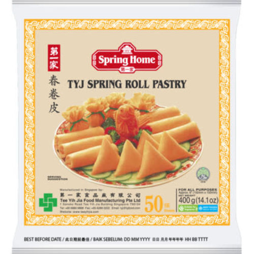 """Spring Home TYJ Spring Roll Pastry 6"""" (50 Sheets) 400g"""