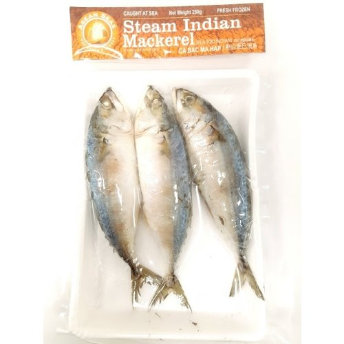 Asean Seas Steamed Indian Mackerel 250g  (Frozen)  PLEASE CHOOSE A.M. DELIVERY ONLY