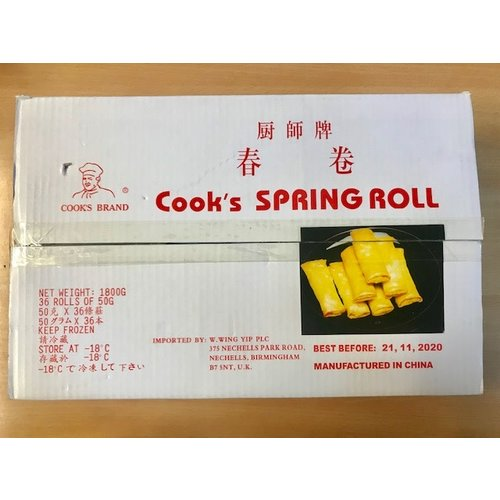 Cooks Brand Spring Roll (36 x 50g) (Frozen)