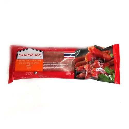 S Khonkaen Chinese Style Sausage -Lap Chong กุนเชียง 360g (Frozen)