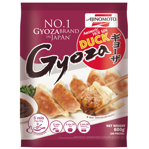 Ajinomoto Gyoza - Duck 600g (Frozen)  PLEASE CHOOSE A.M. DELIVERY ONLY