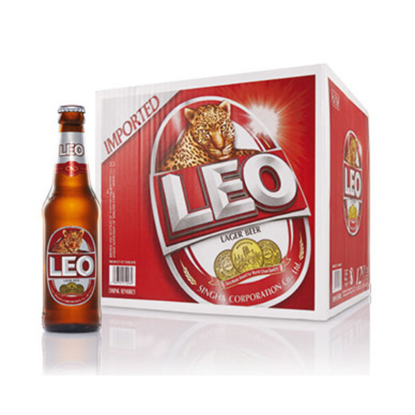 Leo Thai Leo Beer Bottle 320ml x Box of 24