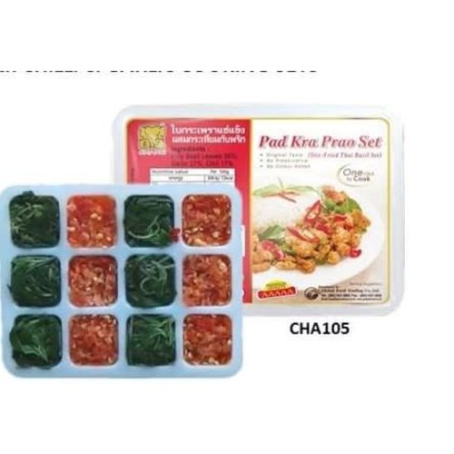 Chang Pad Kra Prao Set Stir Fried Thai Basil Cube 138g (Frozen)  FOR A.M. DELIVERY ONLY