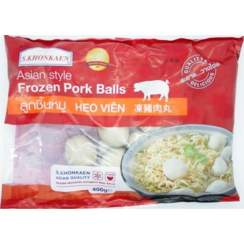 S Khonkaen Pork Ball  400g (Frozen)  FOR A.M. DELIVERY ONLY