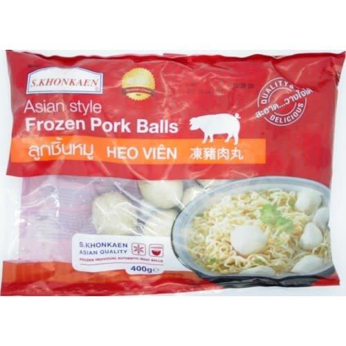S Khonkaen Pork Ball  400g (Frozen)  PLEASE CHOOSE A.M. DELIVERY ONLY