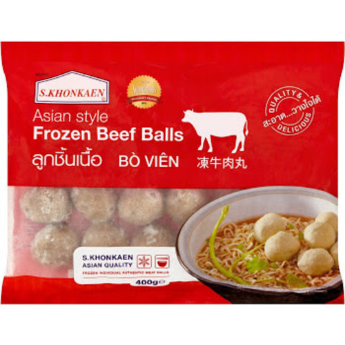 S Khonkaen Beef  Ball 400g (Frozen)  PLEASE CHOOSE A.M. DELIVERY ONLY
