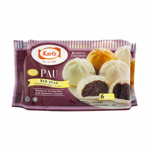 Kart's Pau Bun Red Bean 360g (Frozen) (K)  FOR A.M. DELIVERY ONLY