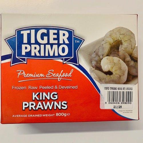 Tiger Primo Frozen Large Raw Peeled & Deveined King Prawns 800g