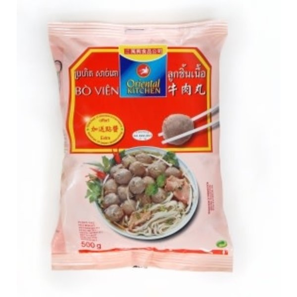 Oriental Kitchen Beef Ball ลูกชิ้นเนื้อ 250g  (Frozen)  PLEASE CHOOSE A.M. DELIVERY ONLY