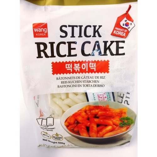 Wang Korean Stick Rice Cake 600g (Frozen)  FOR A.M. DELIVERY ONLY