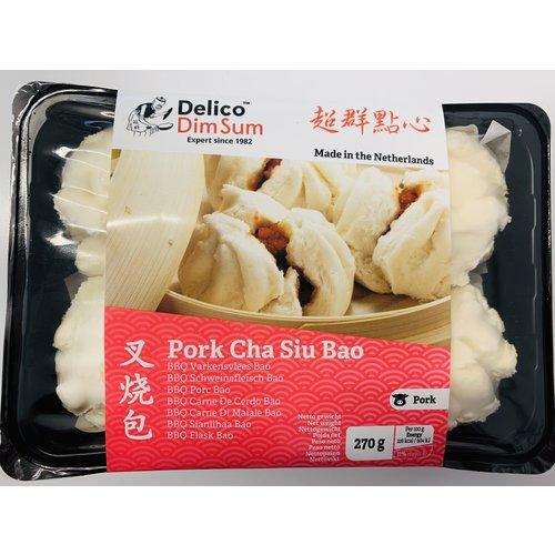 Delico Pork Cha Siu Bao (Bun)  270g (Frozen) PLEASE CHOOSE A.M. DELIVERY ONLY