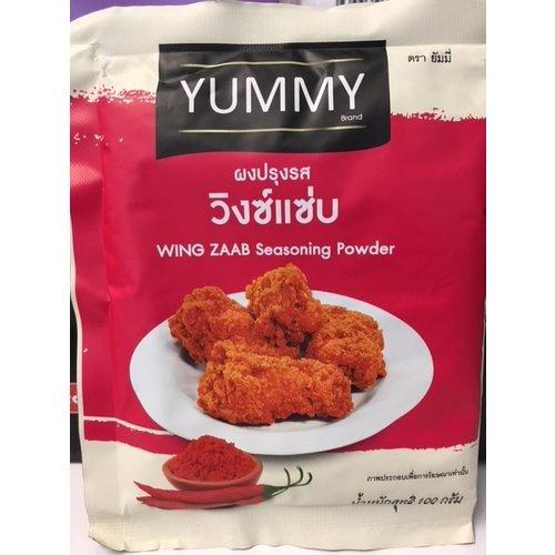 Yummy yummy wing zaab seasoning powder 100g Best Before 07/21